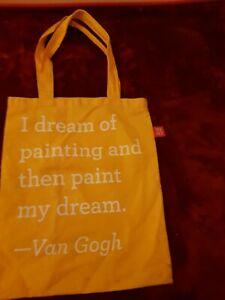 The Metropolitan Museum of Art Tote Bag Sunflower Yellow Van Gogh Quote USA