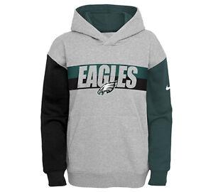 Philadelphia Eagles Nike Youth Boys Heritage Tri-Blend Hoody Sweatshirt