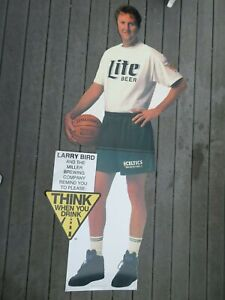 Rare 1992 LARRY BIRD No 33 BOSTON CELTICS Stand-Up Lite Beer Display METAL!!!