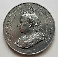 MEDAL QUEEN VICTORIA DIAMOND JUBILEE 1837-1897, SPINK & SON, STEAMSHIP & TRAIN !
