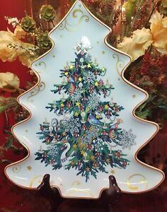 Williams Sonoma Twas the Night Before Christmas Tree Platter NIB