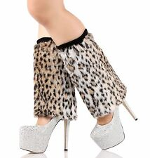 Sexy Legging Sock Soft Faux Fur Mid Calf Leg Warmer Fluffies Shoes Sleeve Cover