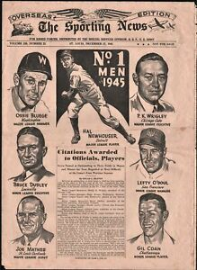 The Sporting News Overseas Edition For Armed Forces 1945-Hal Newhouuser-Gil Coan