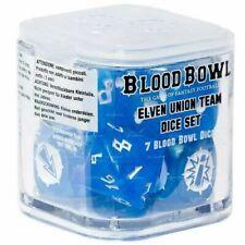 Games Workshop-Blood Bowl Elven Union Team Dice Set-Neu in Box-OOP