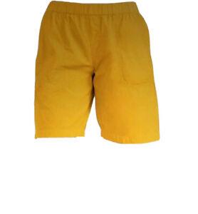 Fresh Produce 1X Mango Yellow  Beachcomber Cotton Shorts $65 NWT New 1X Plus