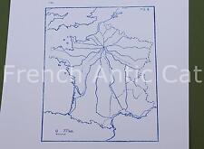 Ancien tampon scolaire métal géographie France voies ferrées train 19*14cm AA044