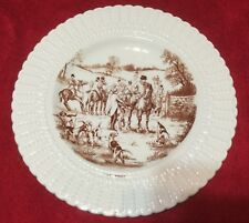 Fox Hunt Hunting Royal Cauldon Plate Monochrome Brown The  Meet