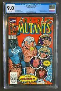 NEW MUTANTS #87, Marvel Comics, CGC 9.0 grade, 1st Cable, WHITE pages