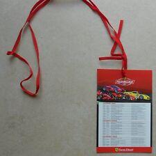 Ferrari finali Mondiali mugello 2017 boleto access card no brochure Book