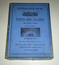 ANTIQUE LOT CRAMERS DRY GLASS PLATES IN BOX ~ CEMETERY, GAME HANGING, HOSPITAL