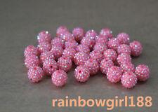 14x16mm! Resin Acrylic Rhinestone Shamballa Beads Disco Ball Beads Many Colors