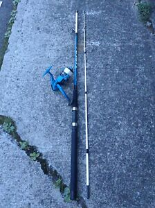 Shakespeare Tiger Spinning Fishing Rod and Reel Combo med action 7' 2pc Blue