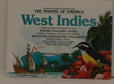 Vintage 1987 National Geographic Map of West Indies
