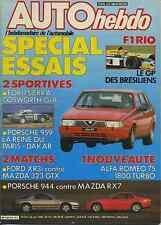 AUTO HEBDO n°515 du 26 Mars 1986 PORSCHE 959 SIERRA COSWORTH GrA MAZDA RX7 944