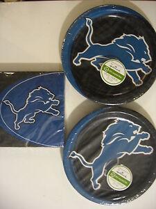 DETROIT LIONS NFL FOOTBALL Party Supplies Includes Plates & Napkins NEW !