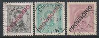 Portugal - 1892/3, 5r, 10r & 25r - Optd PROVISORIO -  F/U - SG 284/5, 291