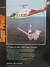 2/1980 PUB GENERAL ELECTRIC CT7 ENGINE BELL 214ST OFFSHORE OIL ORIGINAL AD