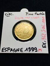 20 Cent Euro Espagne 1999 «Circulé» Fauté - Surplus Métal, Coin Cassé - Error