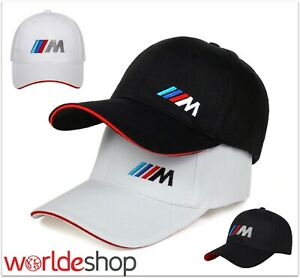 BMW Baseball Cap Stylish Hat Car Logo Snapback Cotton Black White M Performance