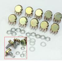100% Brand New 10x B10K Ohm Linear Taper Rotary Potentiometer Panel Pot 15mm Sha
