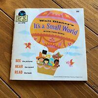 "1968 Walt Disney's Read-A-Long Book & Record ""It's a Small World"" 33 1/3 RPM 7"""