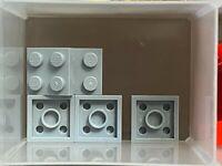 LEGO Parts - Light Bluish Gray Plate 2 x 2 - No 3022 - QTY 5