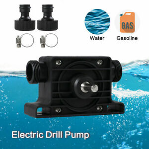 Heavy Duty Electric Drill Pump Self-Priming Hand Drill Drive Pump w/2 Connectors