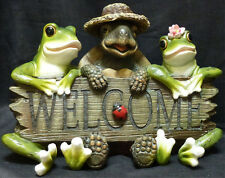 "LUCKY WELCOME  Turtle / Frog statue figure H11"" x L16.25"""