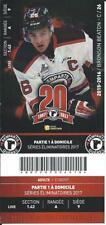 QMJHL Ticket - Quebec Remparts 20th Anniversary BRONSON BEATON #26