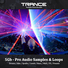 Trance-énorme 5 Go, Boucles, tambours, Hits, synthétiseur, Basse, Mène, Sample Pack