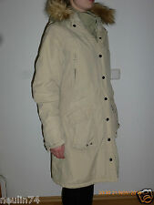 Winterjacke Jacke Mantel beige Gr. 36 Kapuze