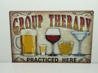 PA26F PLAQUES TOLEE vintage 20 X 30 cm : Group Therapy Beer Bière
