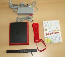 Nintendo Wii Mini Konsole Set inkl. Spiel und Zubehör  Slim rot