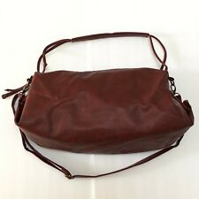 Red Faux Leather Hobo Bag Purse Crossbody Bag Lightweight