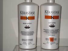 Kerastase 1L Nutritive Irisome Bain Satin 1 Shampoo+Lait Vital Conditioner Litre