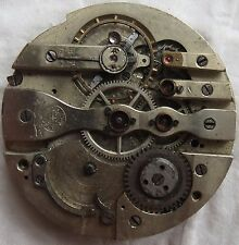 Patent 3133 fine Pocket watch movement & dial 44,5 mm. balance Ok. to restore