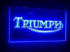 "Triumph 12"" x 8"" Led Neon Sign mancave bar pub garage"