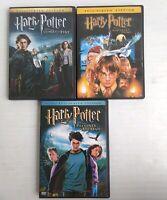 Harry Potter:Goblet Of Fire, The Sorcerer's Stone, The Prisoner Of Azkaban 3 DVD