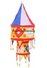 3 Step Indian Embroidered Lampshade Bohemian Cotton Room Garden Light Lamp Decor