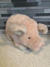Retired Plush Land Inc Pink Farm Pig Stuffed Toy