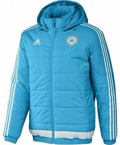 ADIDAS Winterjacke Stadionjacke  warm Kaputze  Top Qualität Olympique Marseille