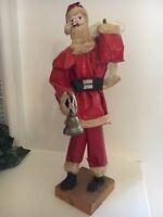 Vintage Folk Art Paper Mache Santa Claus Father Christmas