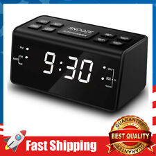 Alarm Clock Radio Digital FM Bedside Rechargeable for Bedroom Guestroom Room