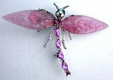 GLORIOUS RHINESTONE DRAGONFLY BROOCH