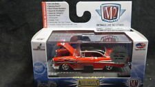 M2 Machines 1957 57  Chevy Bel Air Red/Black flames 1 of 492 Chase 1/64 Die cast