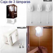 Lote 3 Lámparas Portátil 3 Luces LED blanca con Cordón,incluye tacos y tornillos