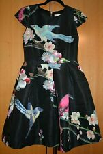 Ted Baker Zaldana Flight of the Orient Cocktail Formal Party Skater Dress 2 UK10