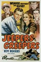 OLD LARGE ROY ROGERS COWBOY MOVIE POSTER, Jeepers Creepers 1939