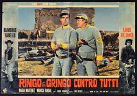 Fotobusta Ringo E Gringo Gegen Alle Lando Buzzanca Van Corbucci R42