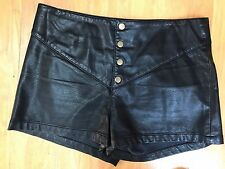 High Waist Shorts BLACK FAUX LEATHER HOT PANTS Silence+Noise Urban Outfitters 8
